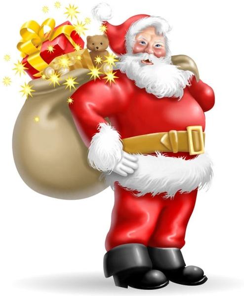 Santa clipart clous #9
