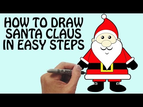Drawn sanya simple Draw Claus Festival To Drawing
