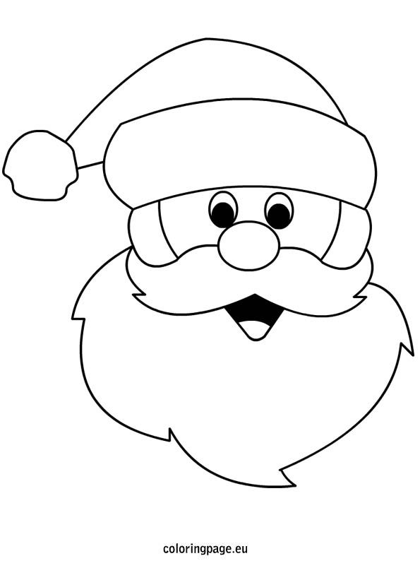 Drawn santa face Drawing on best more this