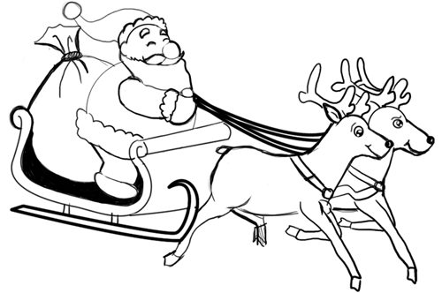 Drawn santa sketch Clause Draw Clause Lesson to