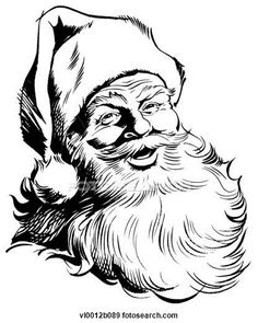 Drawn santa vector Santa Claus vector Clipart Art