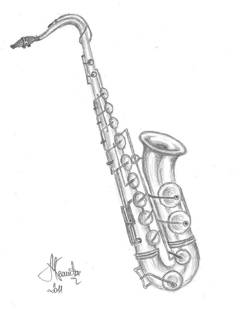 Drawn saxophone Draw To How Saxophone Saxophone