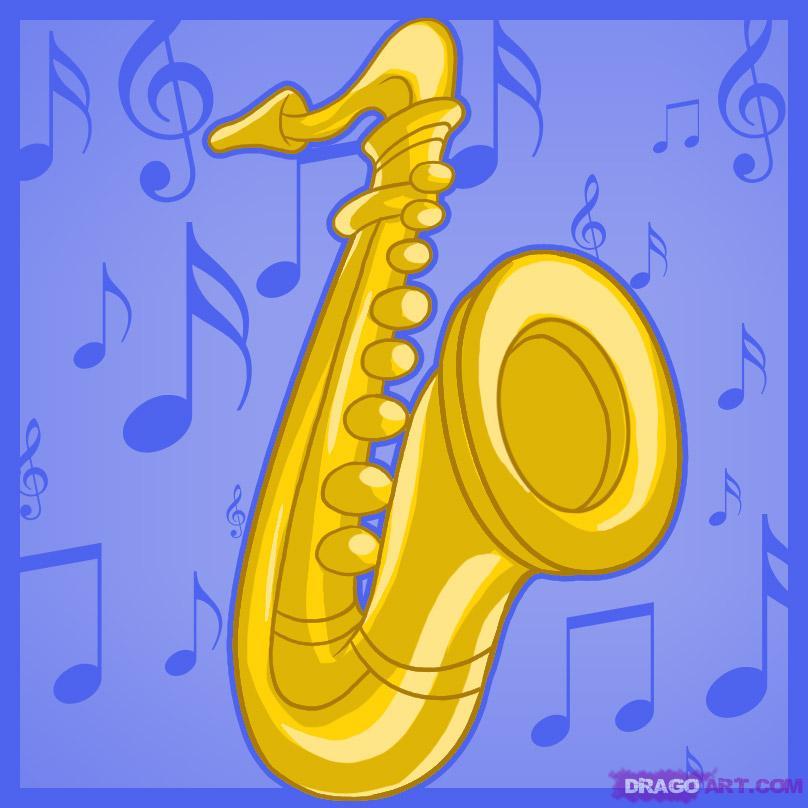 Drawn saxophone #8