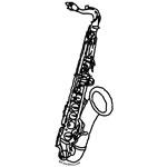 Drawn saxophone #13