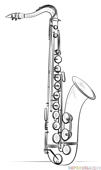 Drawn saxophone By tutorials How Saxophone draw
