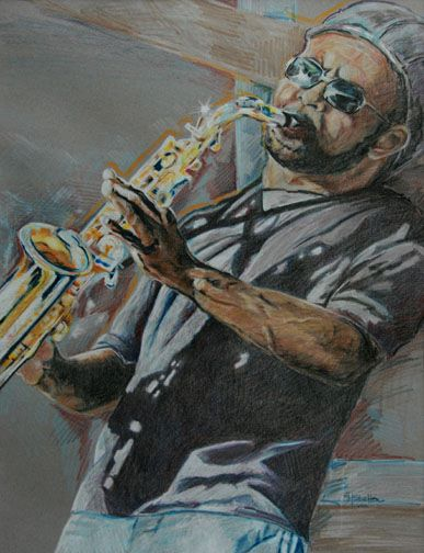 Drawn saxophone Of  That pencil sheltongail@
