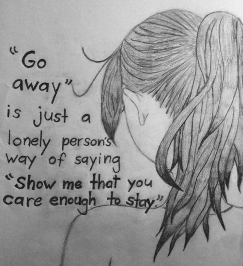 Drawn idea lonely #2