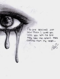 Drawn sad sad heart Depression Art Drowning (2016) in