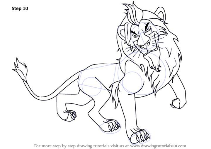 Drawn scar easy Dejajpg King Drawing King How