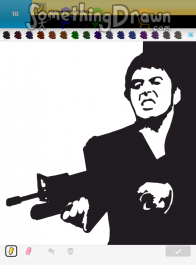 Drawn scar face drawing Drawings SCARFACE Draw scarface SomethingDrawn