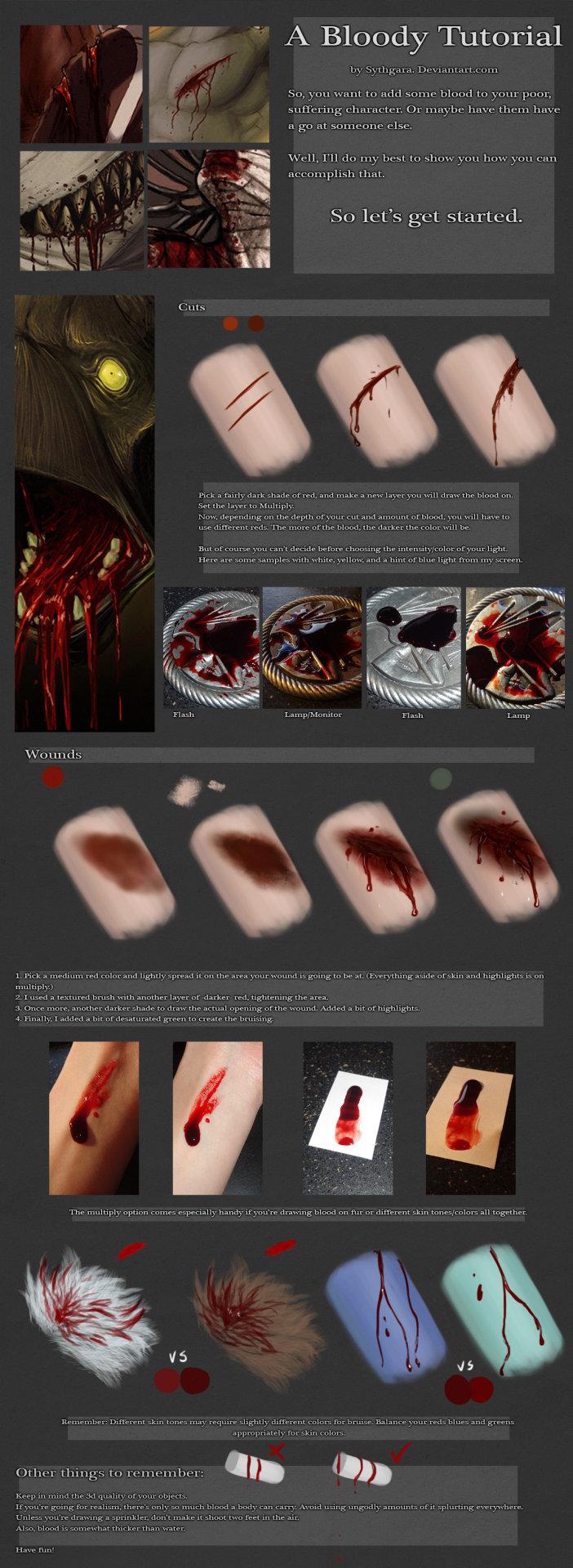 Drawn scar laceration Bruised skin person blood human