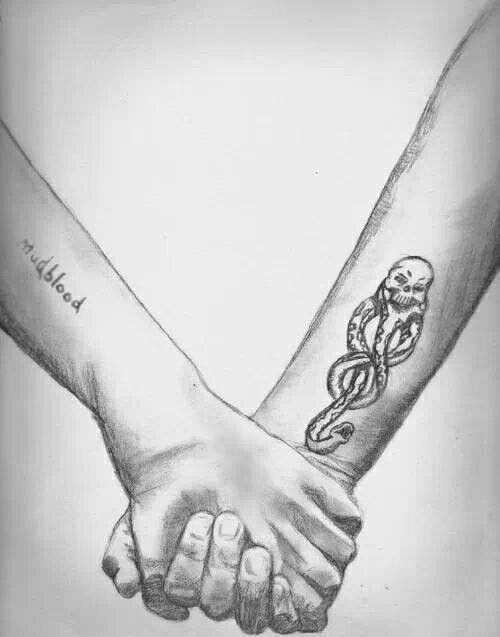 Drawn scar show me Dramione and dramione on tats