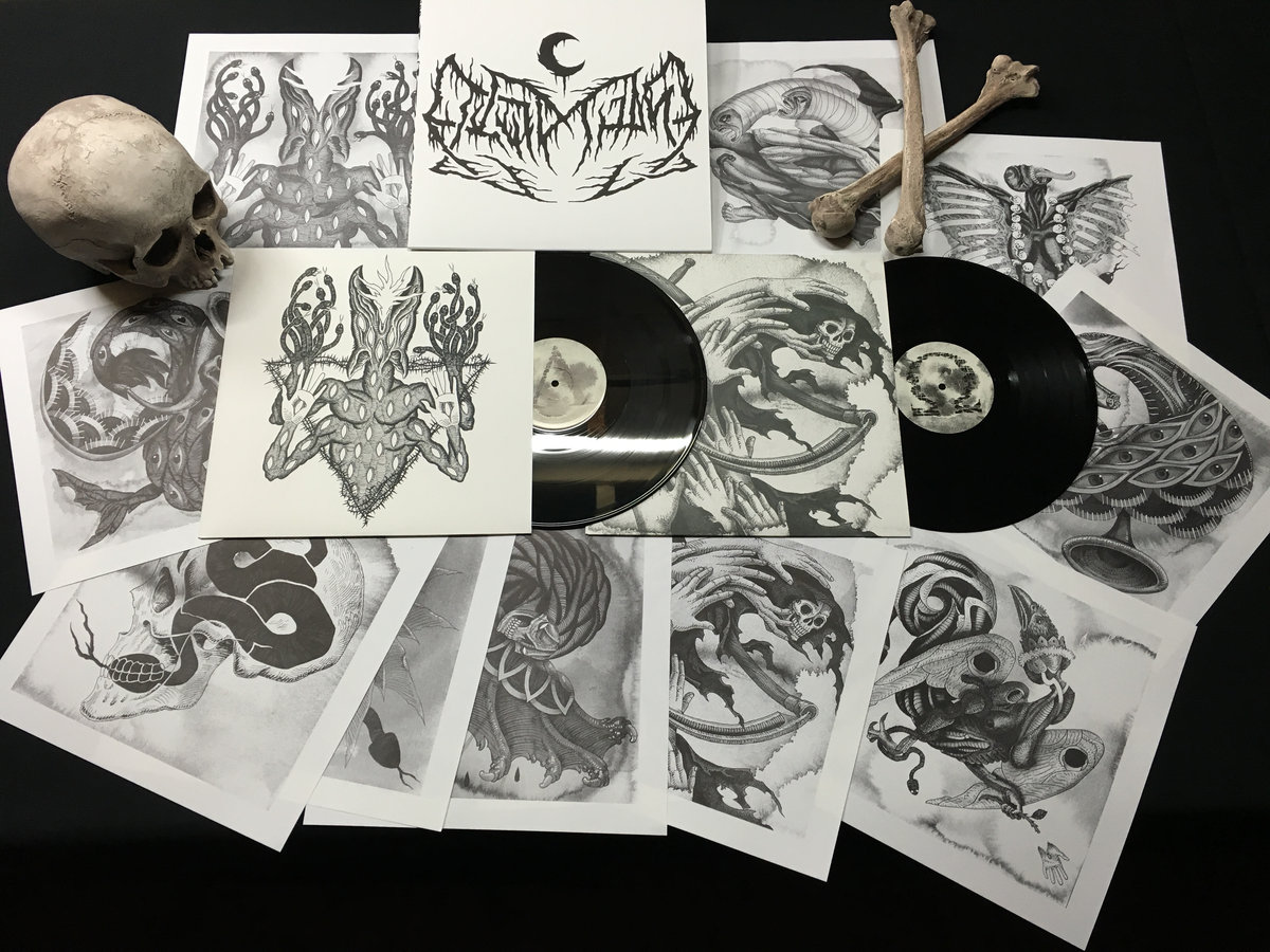 Drawn scar thick Printed chipboard LP's lithograph thick