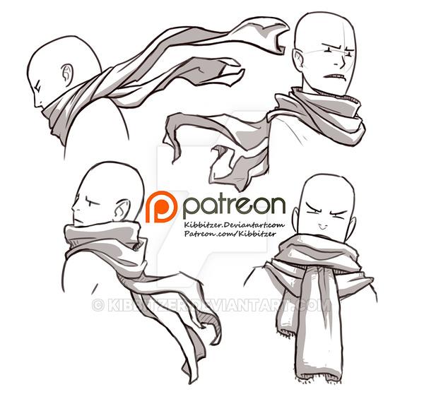 Drawn scarf By Kibbitzer reference DeviantArt reference