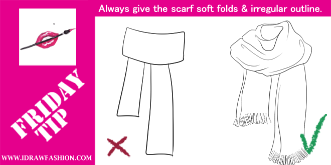 Drawn scarf Design scarf for TIPS to