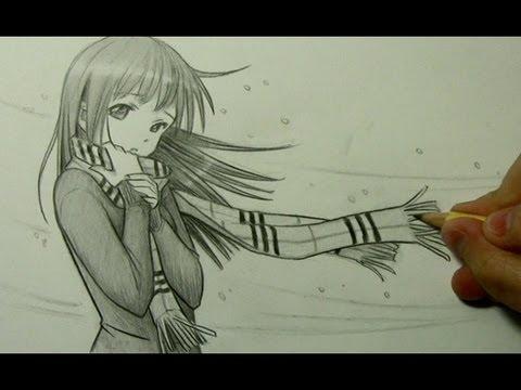 Drawn scarf anime Manga with YouTube to Girl
