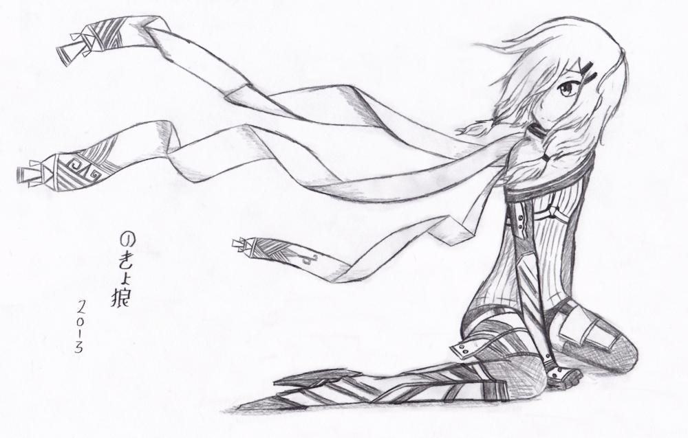 Drawn scarf anime Gallery Image sketch scarf