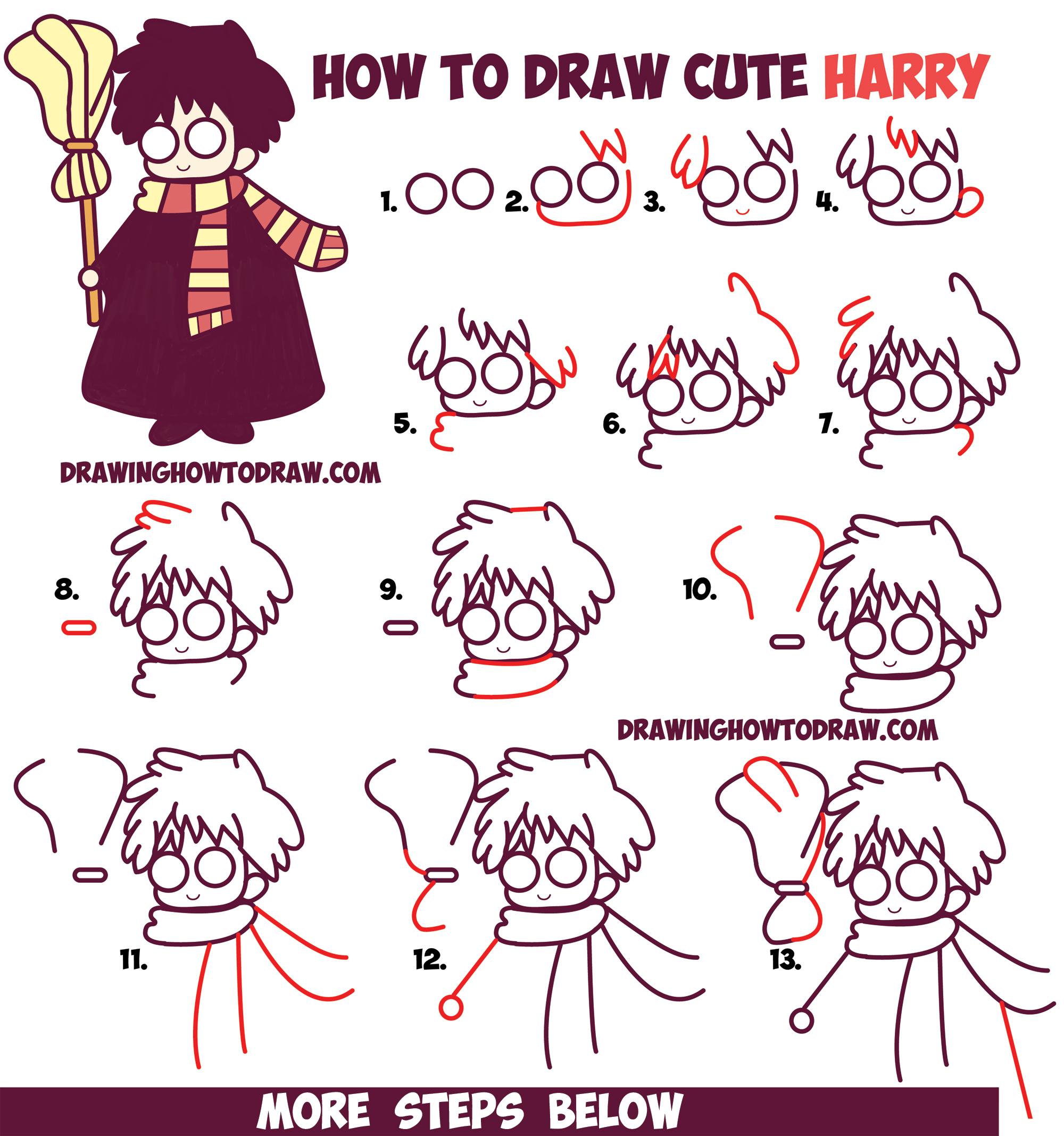 Drawn scarf chibi How Kawaii) Easy Cute