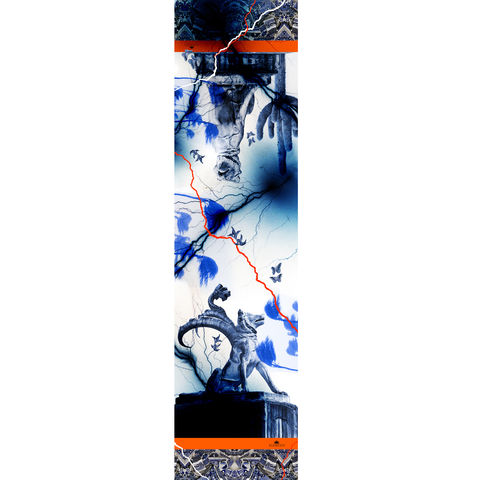 Drawn scarf chibi Dogs KLEMENTS Long SILK Alchibiades