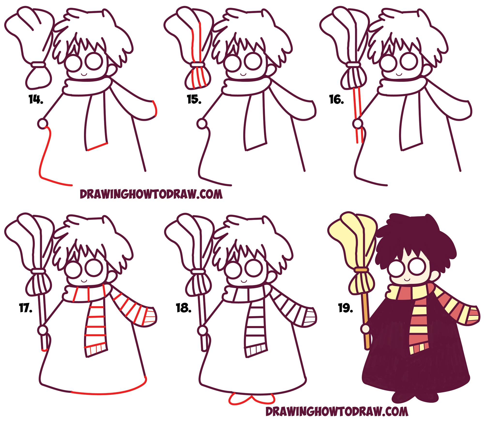 Drawn scarf chibi Learn Kawaii) Kawaii) Draw