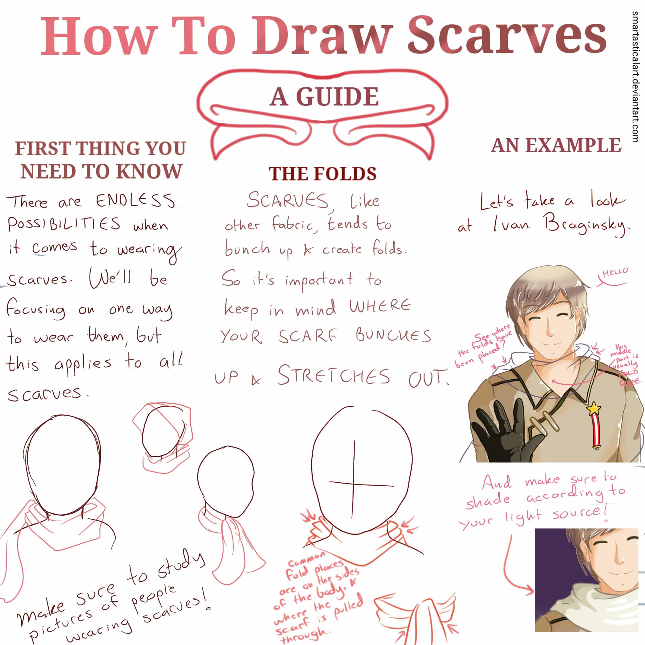 Drawn scarf chibi  How Draw by to