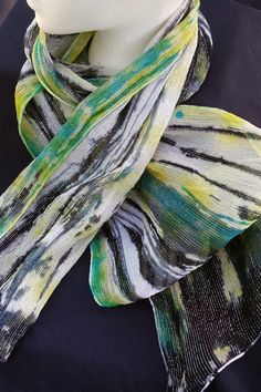Drawn scarf easy Hand threads painted Totally Topwedding