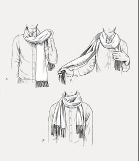Drawn scarf fashion scarf Around around again manner ways