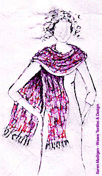 Drawn scarf fashion scarf The u do I s