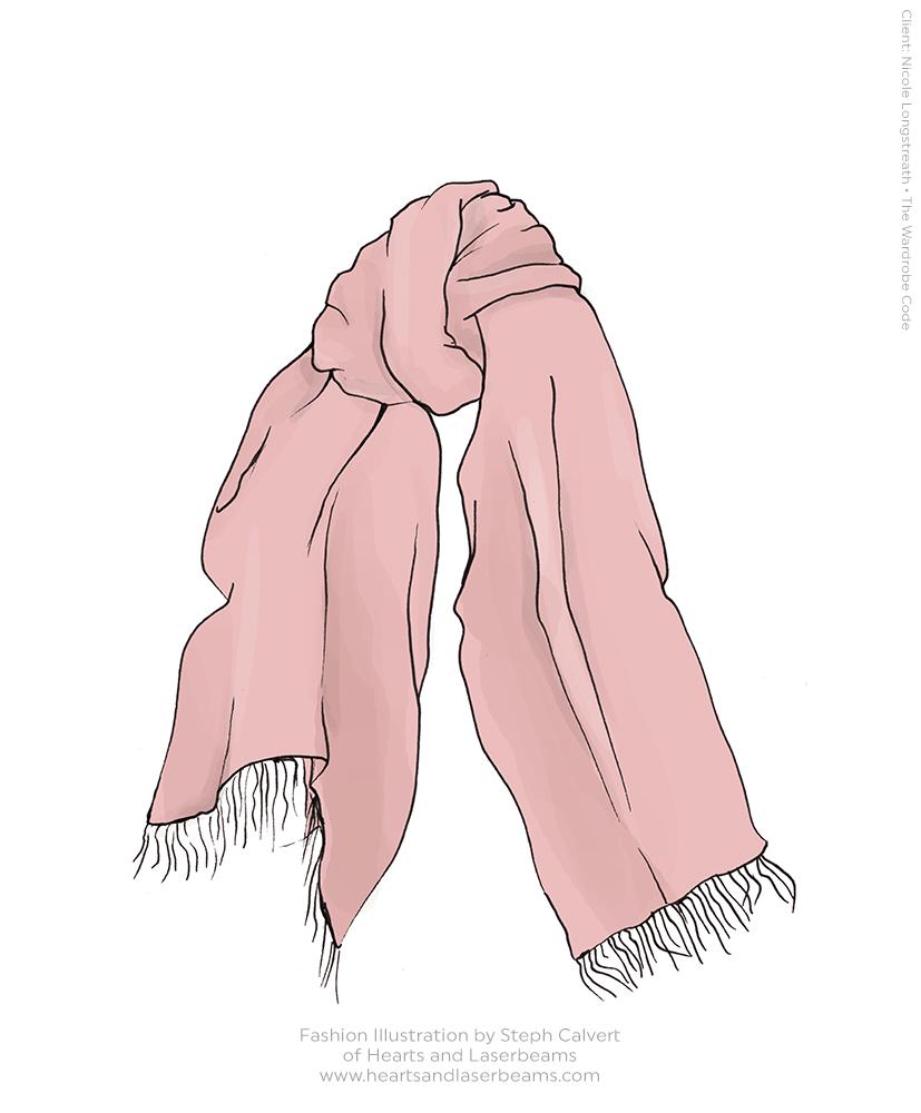 Drawn scarf fashion scarf Happy Fashion Hearts Illustration Hearts