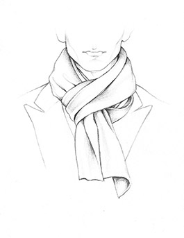 Drawn scarf fashion scarf Discover to a tie Pinterest