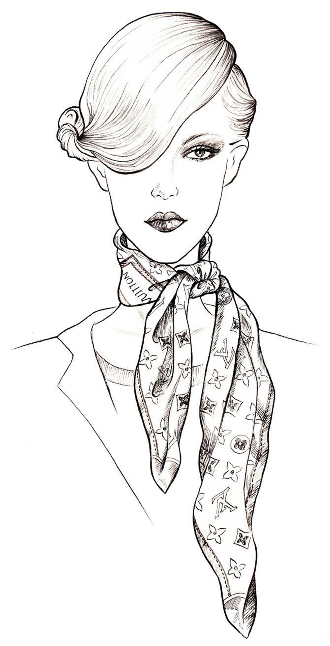 Drawn scarf fashion scarf Brad Best vuitton on 25+