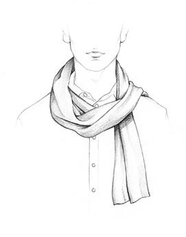 Drawn scarf fashion scarf Ways a wear to to