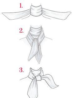 Drawn scarf fashion scarf Tie Fashion a Tie