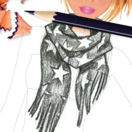 Drawn scarf fashion scarf Scarf DRAW: TO Style HOW