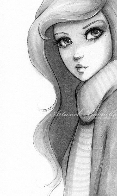 Drawn scarf female Face and 15 images drawing