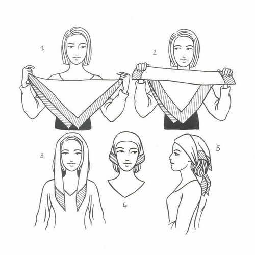Drawn scarf head scarf A Veiling 48 images tie