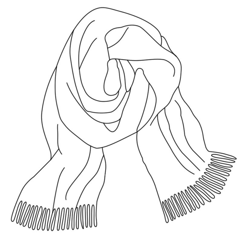 Drawn scarf head scarf Scarf Scarf Tartan Lambswool ScotlandShop