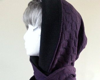 Drawn scarf hoody Scoodie scarf style Hooded Hood