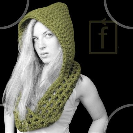 Drawn scarf hoody And pattern scarf CROCHET images