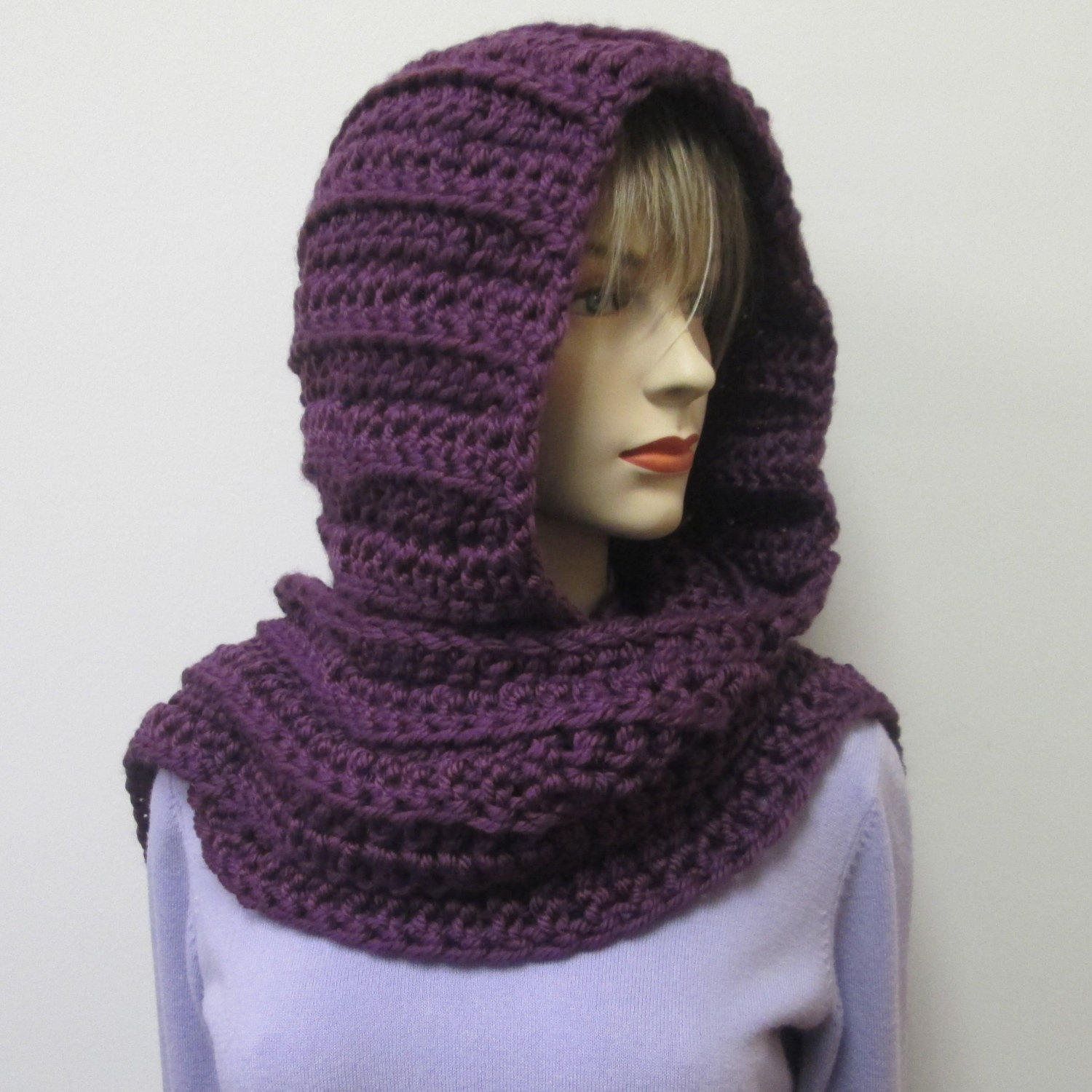 Drawn scarf hoody Scarf Hooded Crochet Scarf Hood
