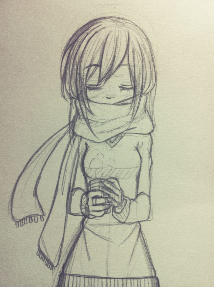 Drawn scarf hot #drawing drawing to like to