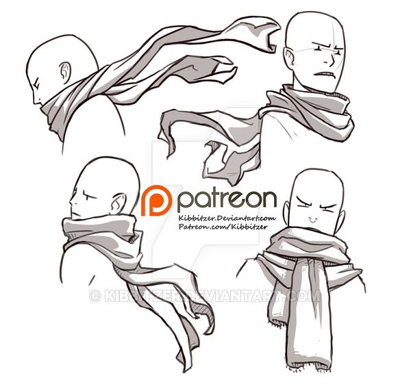 Drawn scarf hot Sheet Scarves References Clothing by