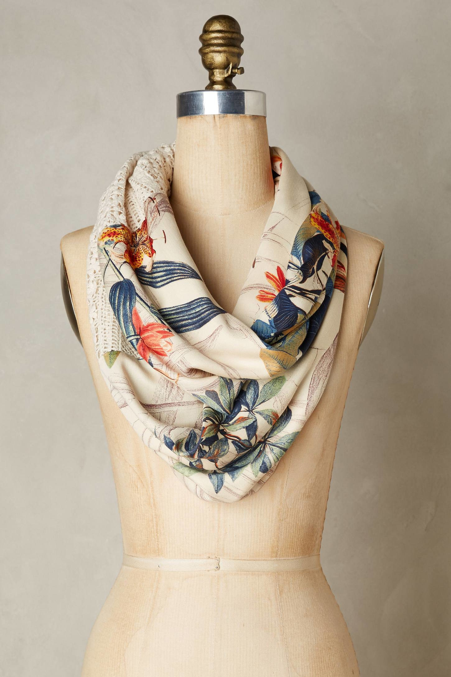 Drawn scarf infinity scarf Infinity Infinity Drawing Lyst Scarves