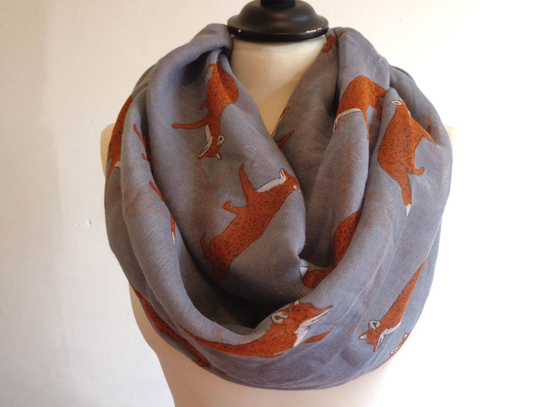 Drawn scarf infinity scarf Scarves Scarf Women Fox Woman