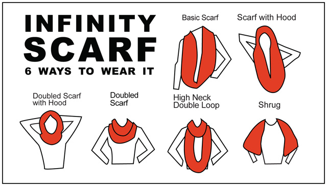 Drawn scarf infinity scarf Hardee Tags Cards + Color