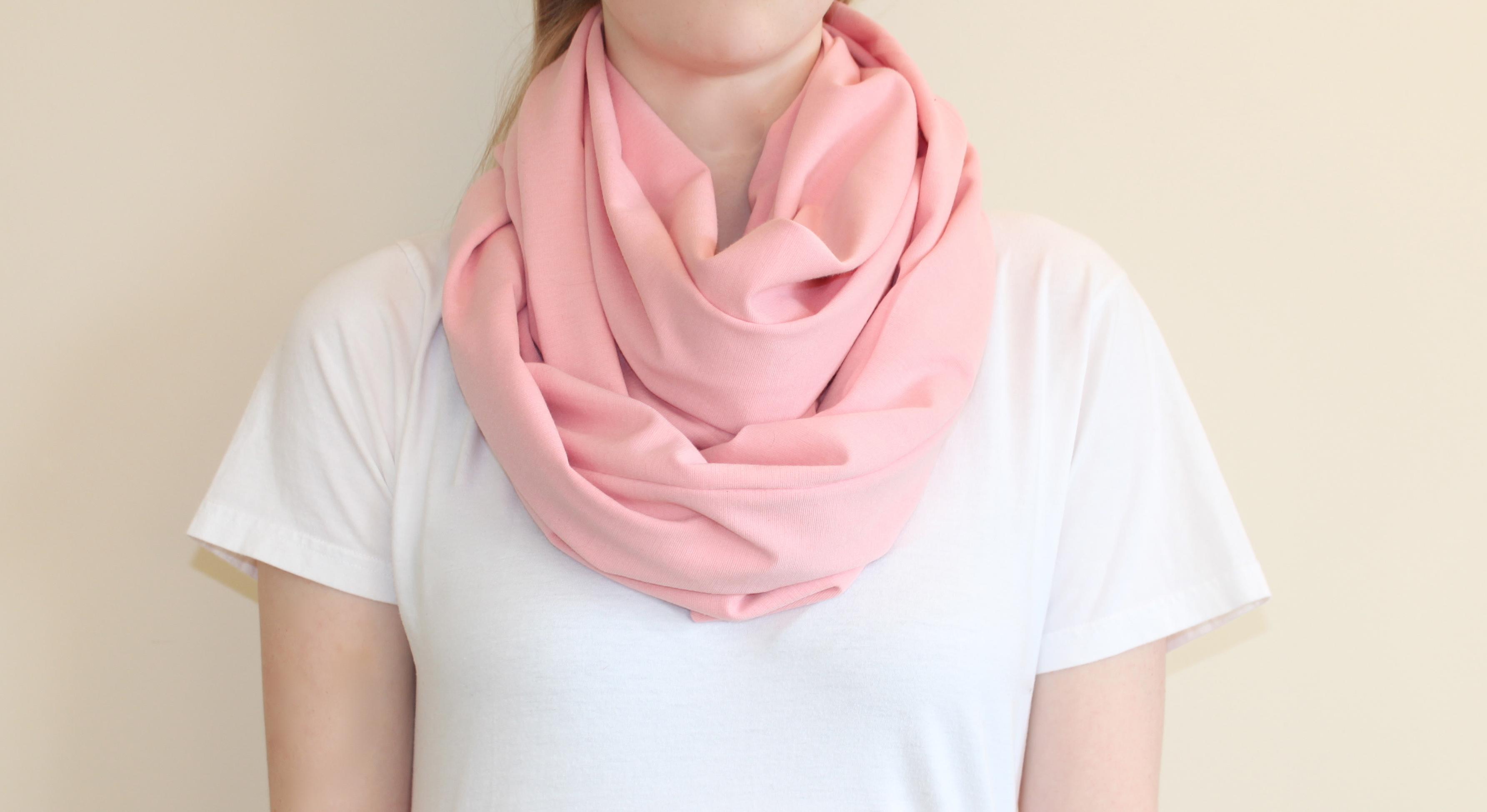 Drawn scarf infinity scarf Circle Scarf  One DIY