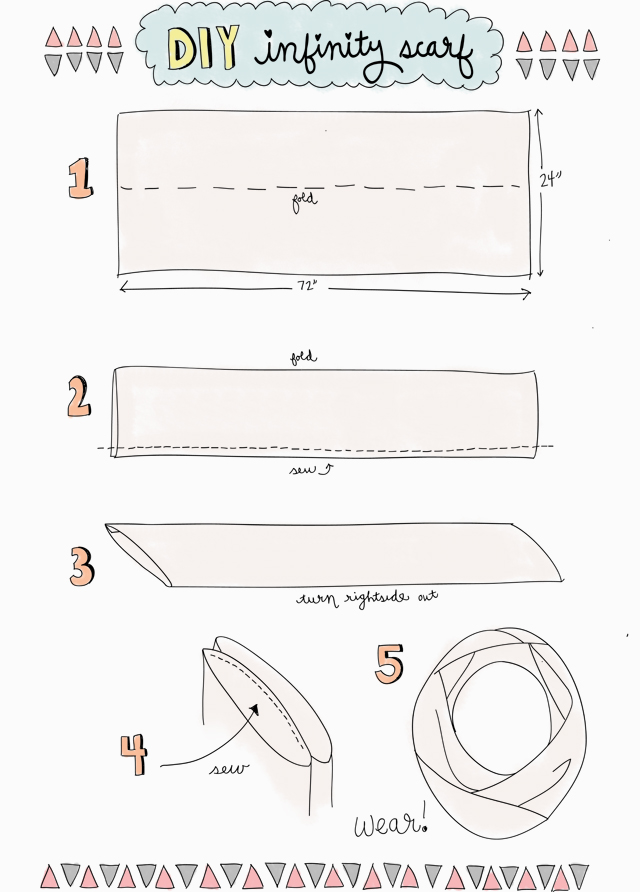 Drawn scarf infinity scarf To scarf way to make