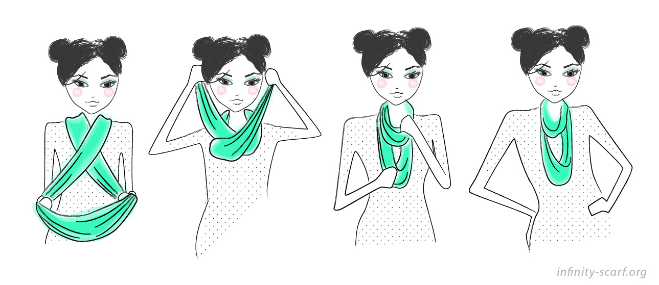 Drawn scarf infinity scarf Different  Infinity To Double