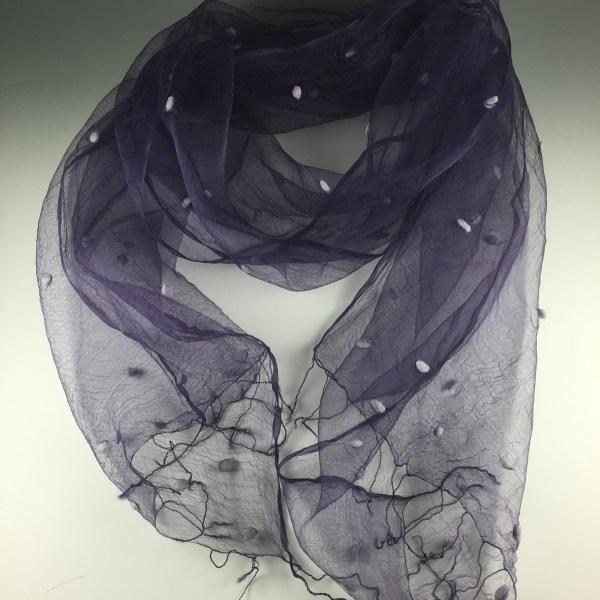 Drawn scarf organza Porter Dyed Fashion silk Jane