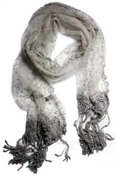 Drawn scarf organza ~ Lace Silk Sheer Satin